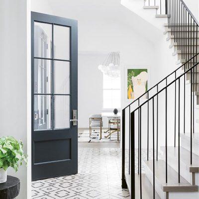 Modern Black front door