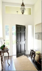 Painted black front door