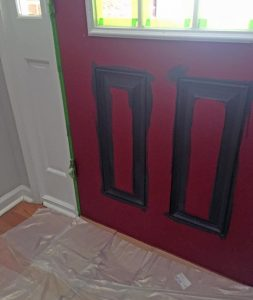 Tips for painting a door black