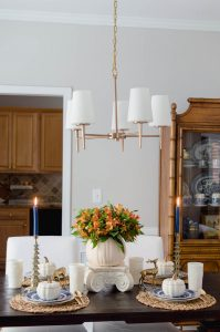 Blue and Orange Dining Room Lighting Fixture