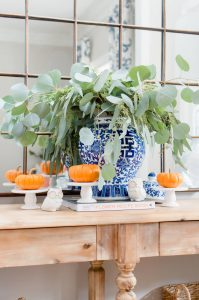 Blue and Orange Fall Entry Styling