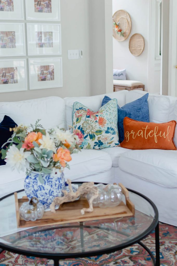 Blue and Orange Fall Home Tour
