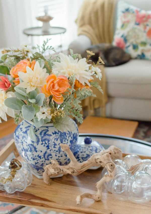 Blue and Orange Fall Home Tour Part 2 {video}