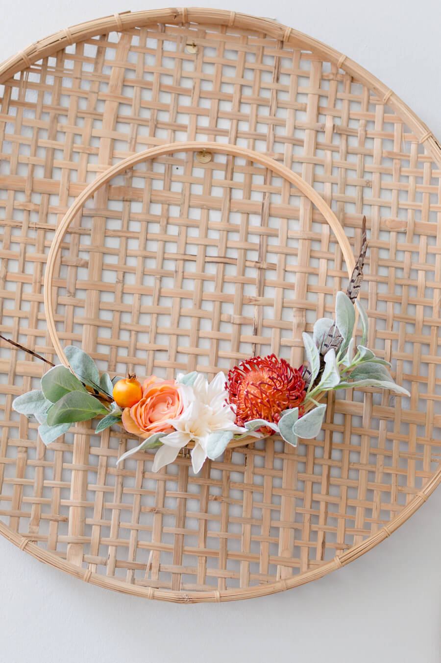 DIY Fall Embroidery Hoop Wreath