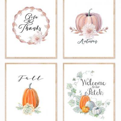 Four Printable Fall Signs