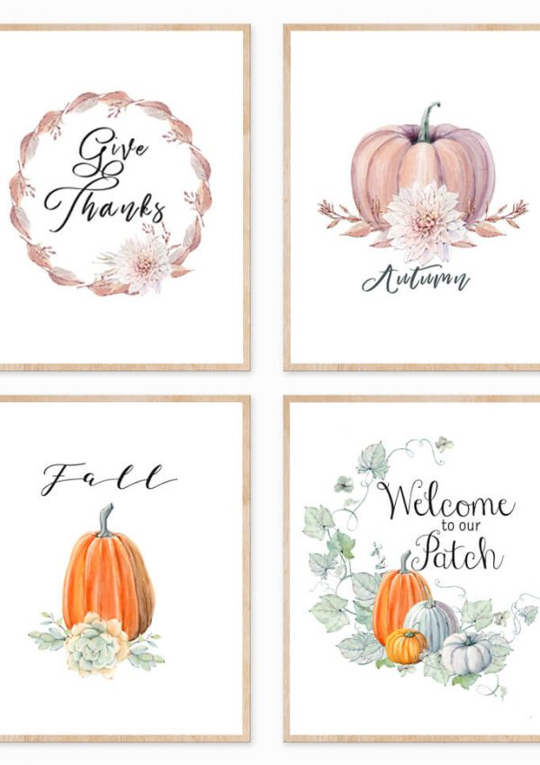 Four Printable Fall Signs