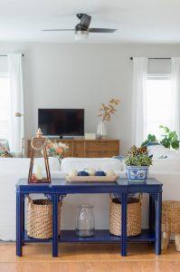 Navy Blue Sofa Table