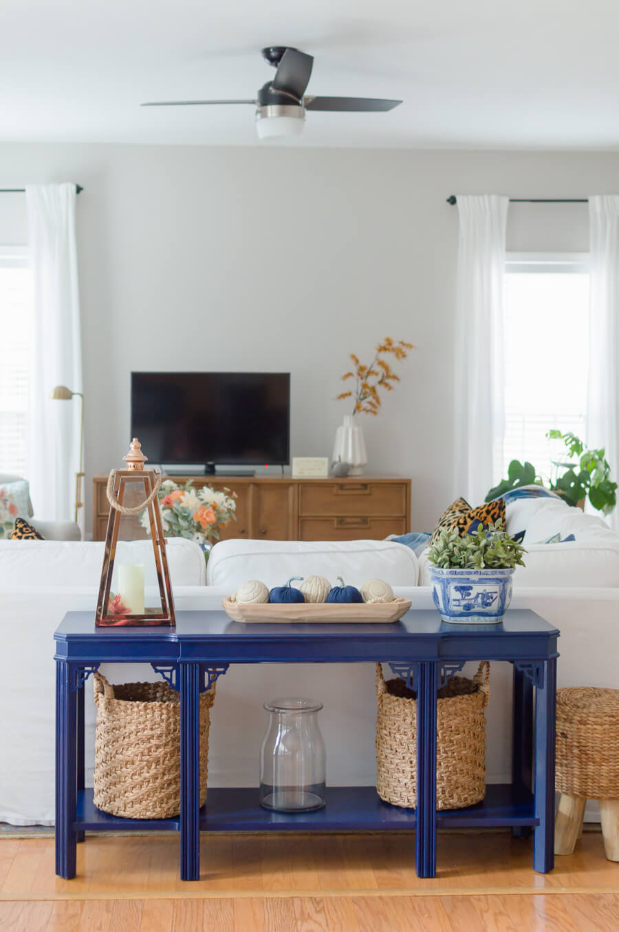 Navy Blue Sofa Table
