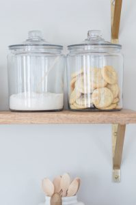Open Shelves With Glass Jars