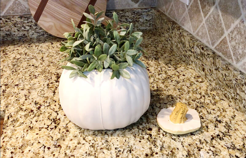 Pumkin Vase with Ikea artificial plant