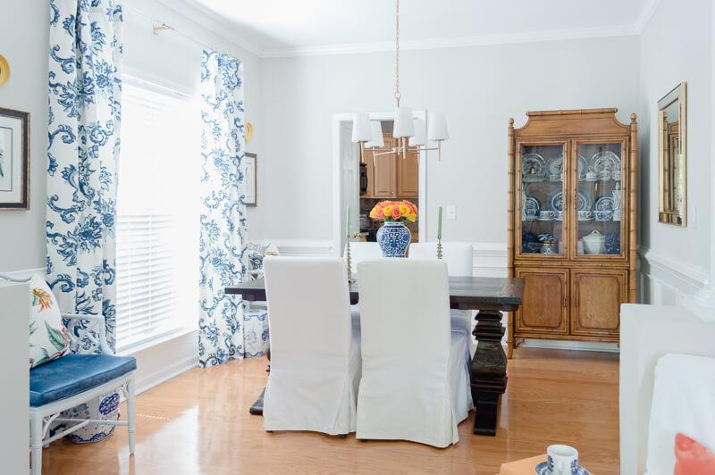 Blue Dining Room Makeover