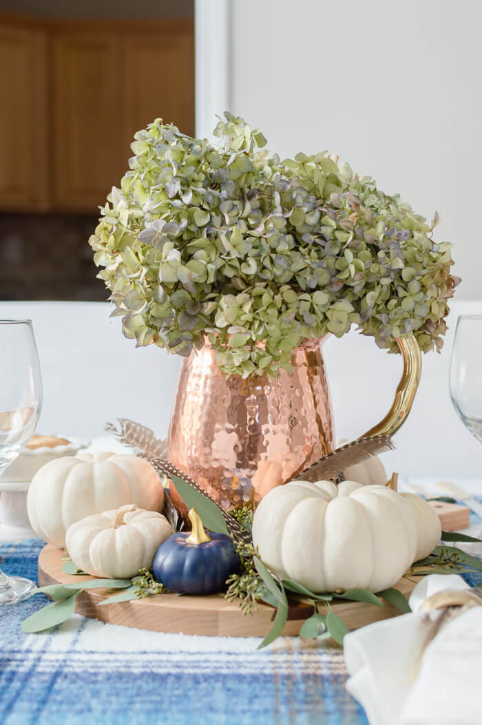 Copper Pitcher Thanksgiving Centerpiece