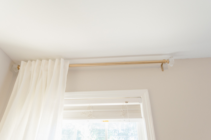 DIY Curtains Rods Gold
