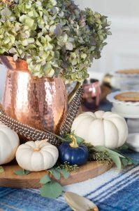 Dry Hydrangea Fall Centerpiece