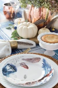 Feather Design Thanksgiving Dishes