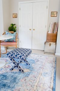 Blue Rug Office Guest Bedroom Makeover