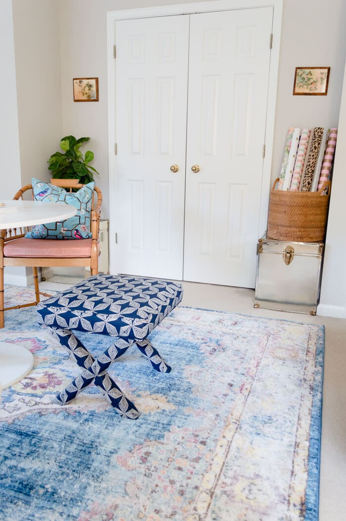 Blue Rug Office Guest Bedroom Makeover