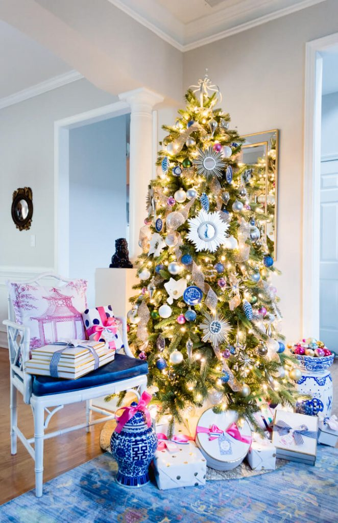 A Blue And White Inspired Christmas Tree The Home I Create