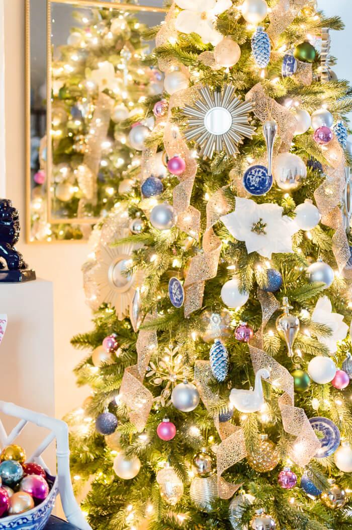 Blue And White Christmas Tree Decor The Home I Create