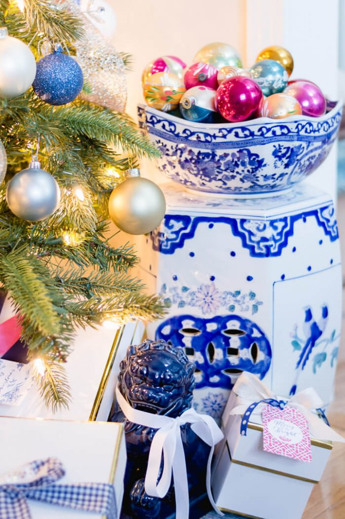 Blue and White Inspired Christmas Decor