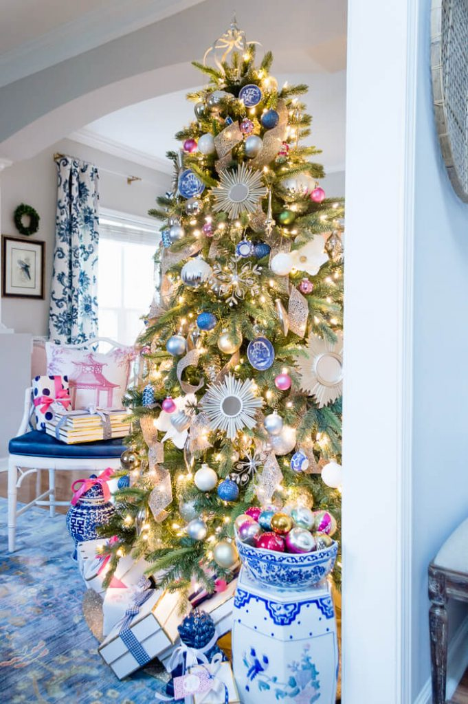 Blue and White Inspired Christmas Tree