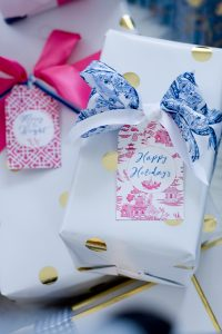 Chinoiserie Gift Tags Pink