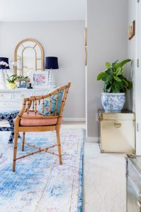 Chinoiserie Office Guest Bedroom