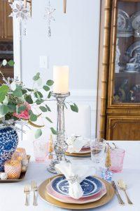 Christmas Table Mercury Candlestick