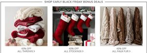 Pottery Barn Black Friday Sale 2018