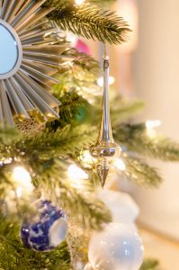 Silver Drop Ornament