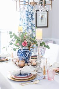 White Pink and Blue Christmas Decor