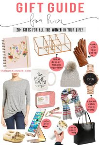 20+ amazing gifts ideas for all the special women in your life! #thehomeicreate #giftguide #christmasgiftsideas #christmasgiftguide #giftsforher