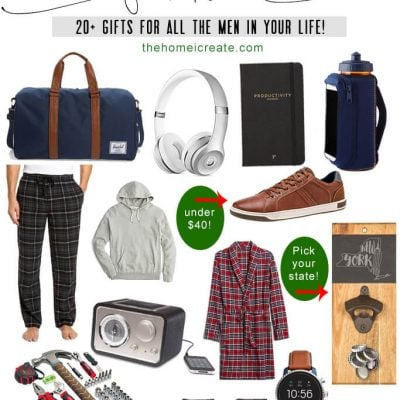 20+ amazing gifts ideas for all the special men in your life! #thehomeicreate #giftguide #christmasgiftsideas #christmasgiftguide #giftsforhim