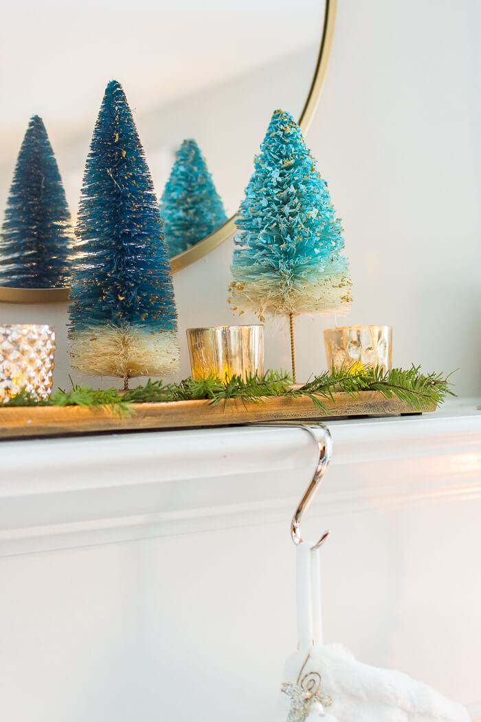 Blue Bottle Brush Christmas Tree