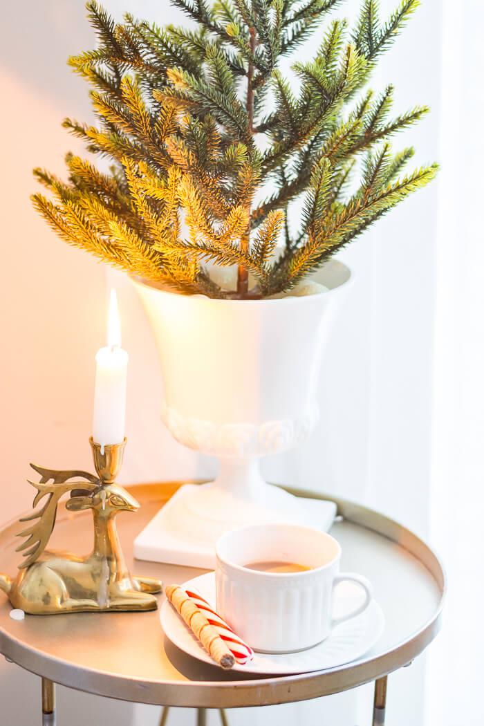 Brass Deer Candleholder