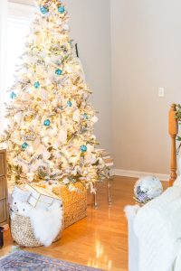 Bright and Blue Christmas Tree