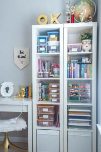 Art Supply Organization Shelf