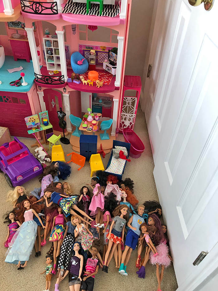 Barbie Organization Using KonMari method