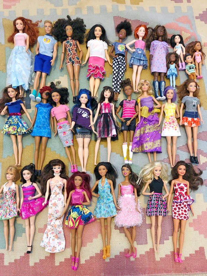 Barbie doll organizing