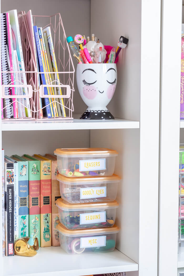 Dollar Store Craft Storage