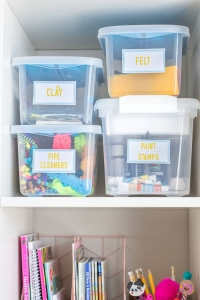 Easy Arts and crafts supply organization