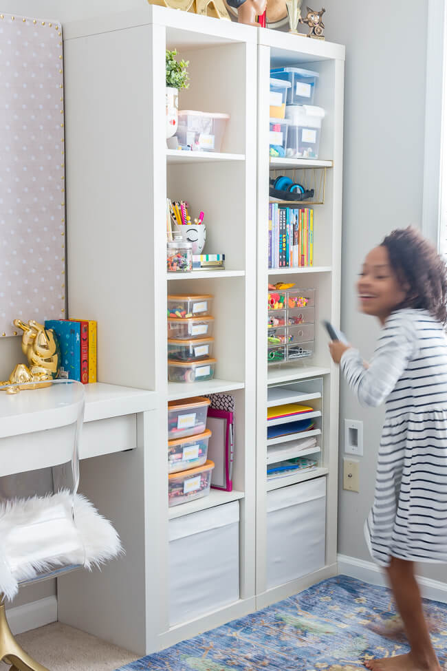 Girls Room Craft Supplies Storage