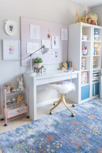 Ikea malm desk and kallax shelf