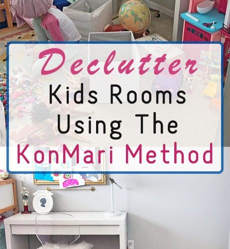 KonMari Inspired Kids Room Declutter Before and After