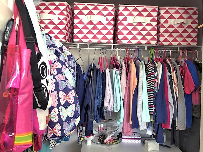 KonMari Organized Kids Closet