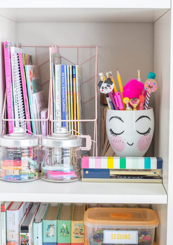 Organizing Kids Craft Supplies – $100 Room Challenge