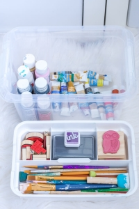 White Storage Box With Tray