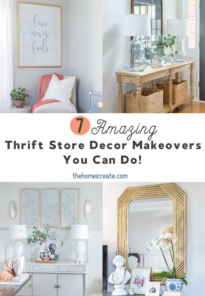 7 amazing thrift store decor makeovers that I know you can do! Shopping thrift stores for home decor can help you stretch your decorating dollars.
