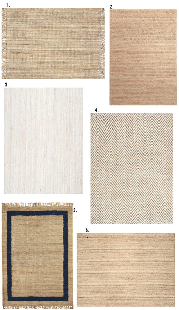 Affordable Jute rug. A guide to Jute rug. The pros and cons of owning a natural fiber jute rug.