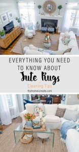 Everything you need to know before buying a jute rug including how to clean your jute rug.